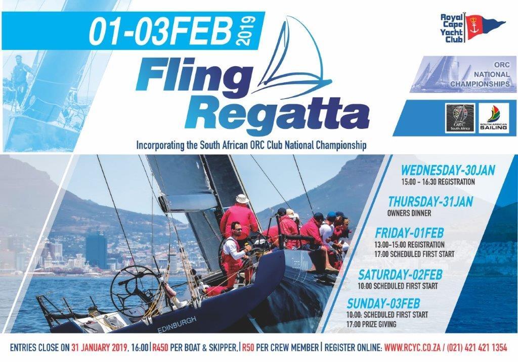 Fling Regatta 1st – 3rd Feb 2019